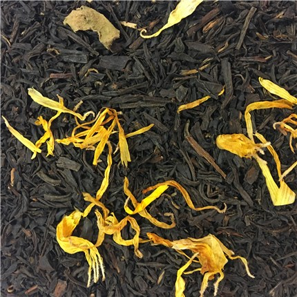 Black tea with Marigold petals